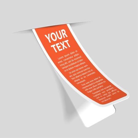 paper fold: Sticker Label n Pocket Illustration