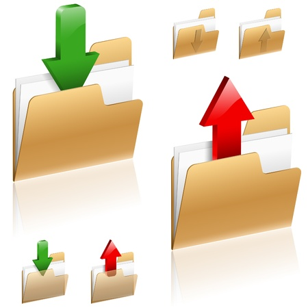 file transfer: Download and Upload icon