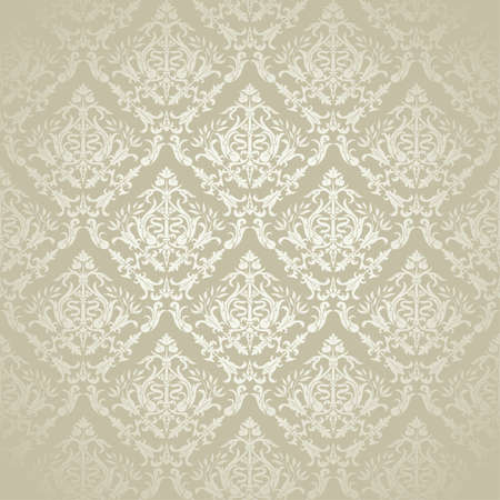 seamless damask: Vintage Floral patr�n transparente para el dise�o, ilustraci�n vectorial