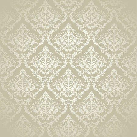 damast: Vintage Floral Seamless Pattern f�r Design, Vektor-Illustration Illustration