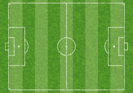marking: Textured Soccer Field with Marking, vector illustration