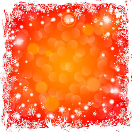 Grunge Christmas Frame with Snowflakes and Flare, vector illustration Stock Vector - 23659976