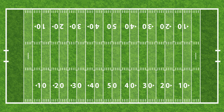 footballs: American Football Field with Line and Grass Texture, vector illustration