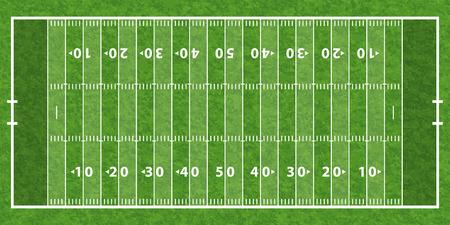 sideline: Campo de f�tbol americano con la l�nea y textura de la hierba, ilustraci�n vectorial