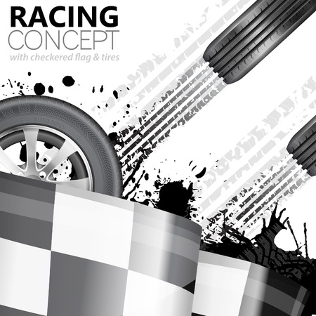 street racing: Racing Concept - Flags, Tires and Tracks