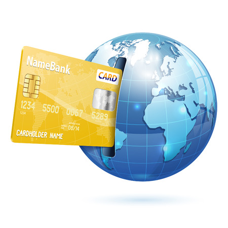 epayment: Earth with Credit Cards.