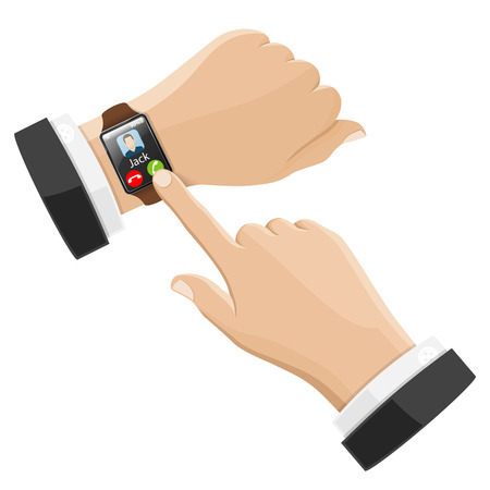 Smart Watch with Call on Screen Illustration