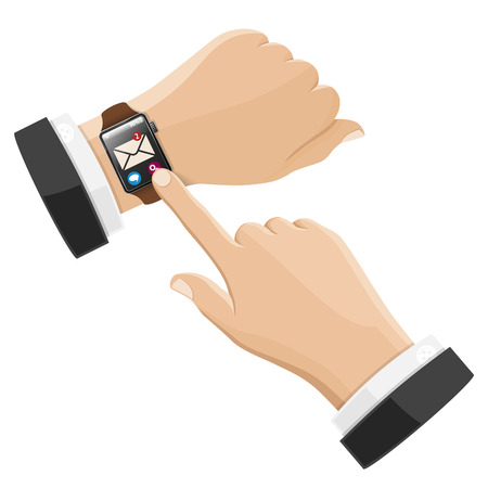 unread: Smart Watch with Unread E-Mail on Screen