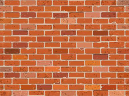 brickwork: Seamless Grunge Brick Wall Texture. Vector Illustration.