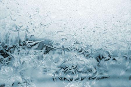 bedeck: window frost pattern Stock Photo