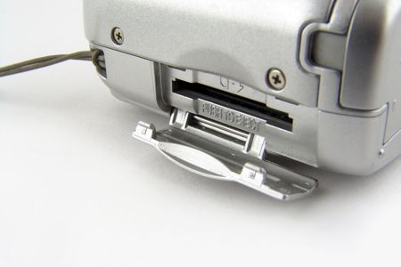 macro of SD slot photo