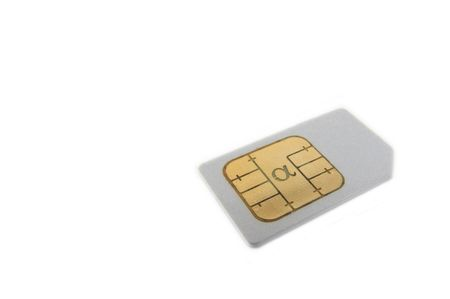 gprs: SIM card for cellphone Stock Photo
