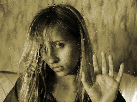 gaze: vrouw unblinking blik