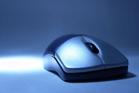 macro of stylish wireless mouse Stock Photo