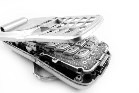broken cellphone Stock Photo