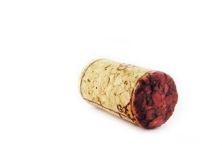 isolated wine cork