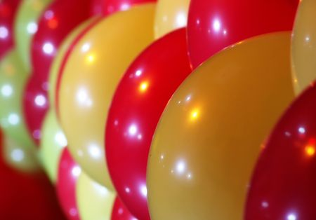 red and yellow balloons bacground