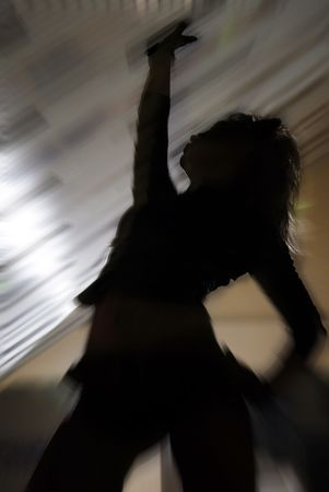 teenagers only: posture of dancer on the disco party
