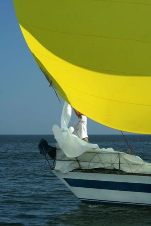 Conceptual sailing composition . photo