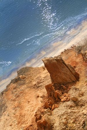 Beautiful landscape with a rocky coast and sea photo