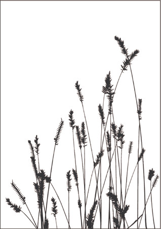 grass vector black silhuette Stock Vector - 825634