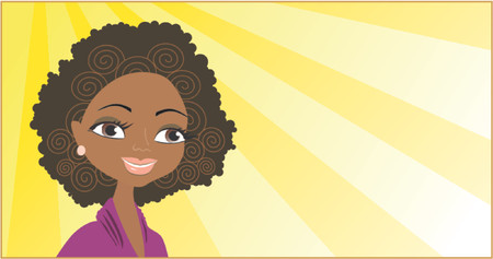 Portrait of the African girl Stock Vector - 866461