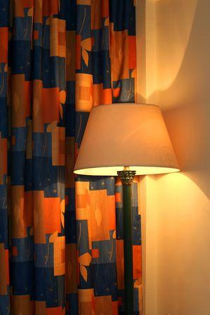 condos: lamp and hotel  room interior
