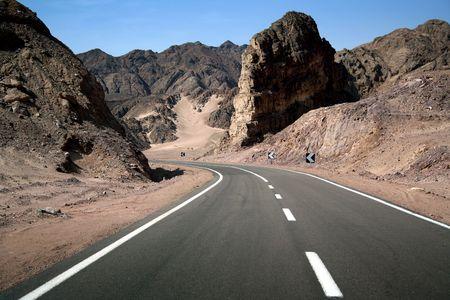 pleasant: Wide empty road. Pleasant trip!