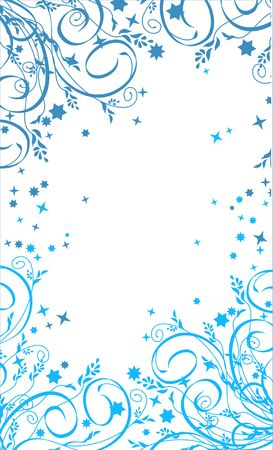 Christmas white and blue background. Ideally for your use Vector