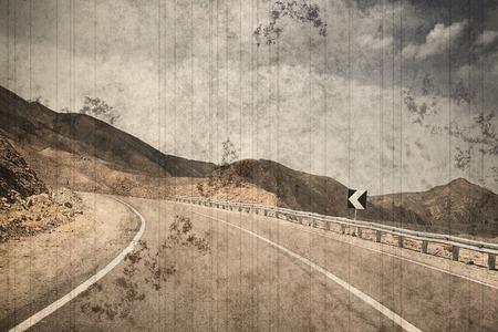 vanish: Road  vintage photo