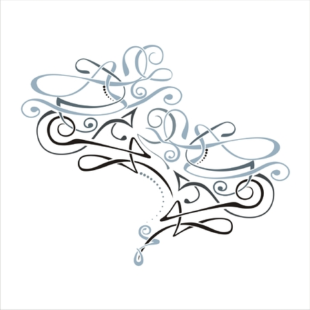 floral ornaments: Vector Swirl