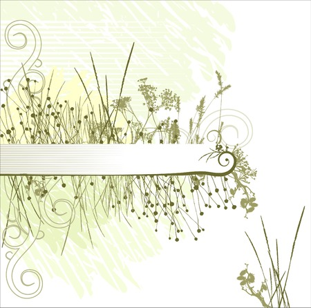 Grass silhouette frame  vector. Ideally for your use Vector