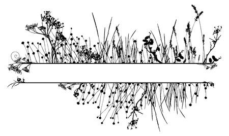 inmejorablemente: Grass silueta marco  vector. Lo ideal para su uso