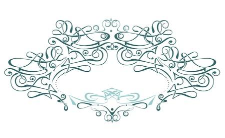 Scroll frame  vector  art deco style. Ideally for your use Vector