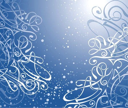 themed: Winter themed grunge background.