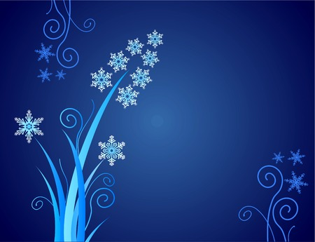 snowflakes flower / christmas ornament / vector Stock Vector - 1647222