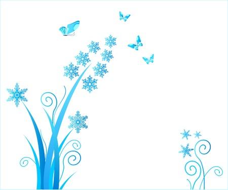snowflakes flower / christmas ornament / vector Stock Vector - 1647220