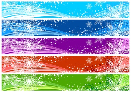 Christmas banners for Internet (468x60 and 730x90 sizes)  with space for your text Vector