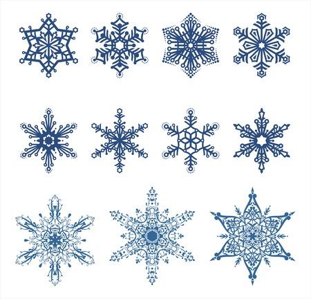 inmejorablemente: vector de los copos de nieve  ideal para su uso Vectores