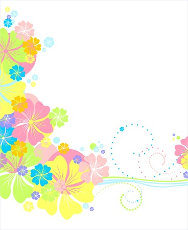 Vector floral backdround  Gentle colours Vector