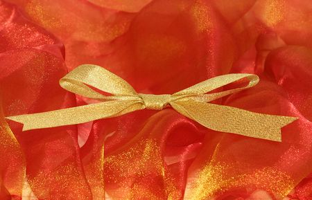 Celebratory and Christmas ribbons / There is a space for your text Stock Photo - 2033825