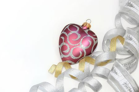 Christmas ornament (isolated on white with copyspace) photo