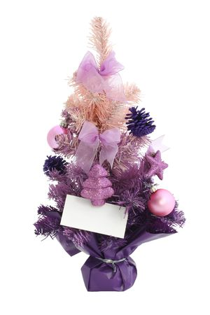 Chtistmas tree  isolated  Hand made clipping path included photo
