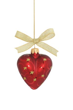 Christmas ball isolated  heart photo