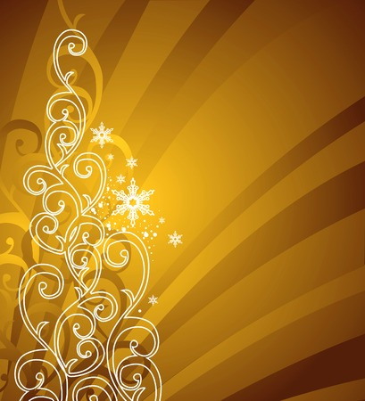 gold christmas background  vector illustration Vector