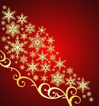 snowflakes background  christmas ornament  vector Illustration