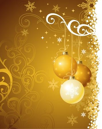 gold christmas background: gold christmas background  vector illustration Illustration
