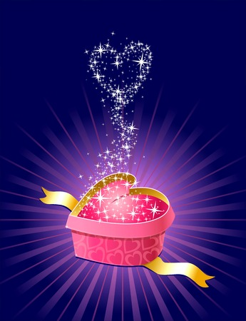 gift with love and magic  vector  separate layers Vector