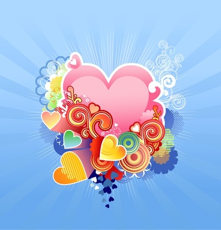 love heart  valentines or wedding   vector illustration The layers are included Vector