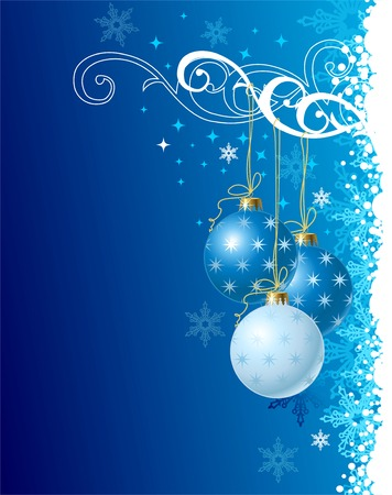 blue christmas background  vector illustration Vector